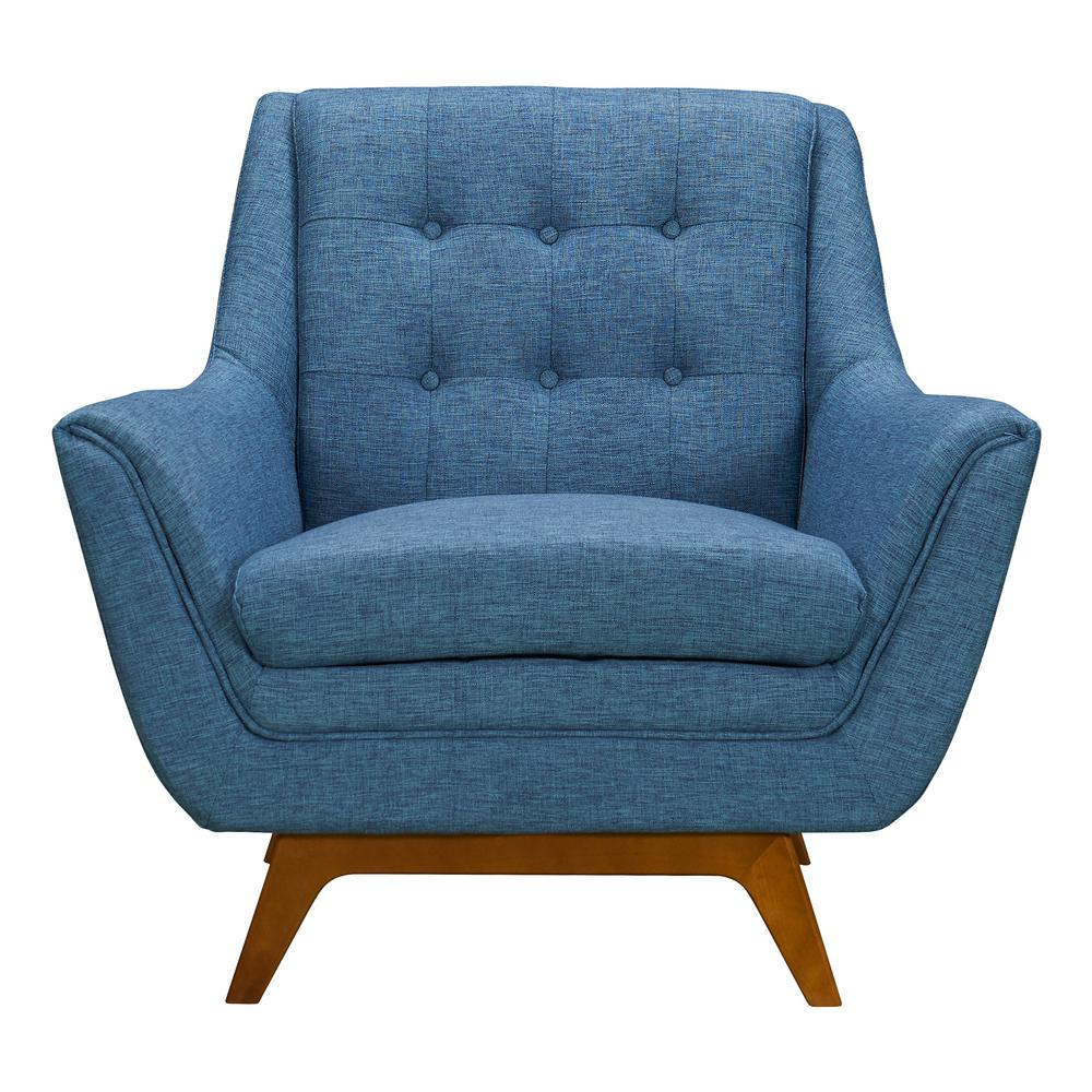 Super Armen Living Janson Blue Fabric Sofa Chair Lcjo1Blue The Dailytribune Chair Design For Home Dailytribuneorg