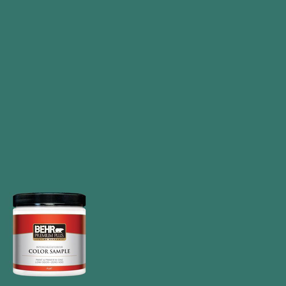 BEHR Premium Plus 8 oz. #490D-7 Greensleeves Interior/Exterior Paint Sample