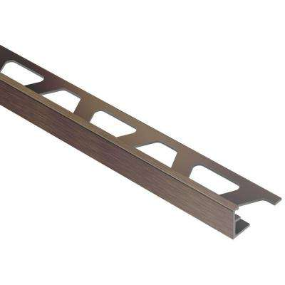Jolly Brushed Antique Bronze Anodized Aluminum 1/4 in. x 8 ft. 2-1/2 in. Metal Tile Edging Trim