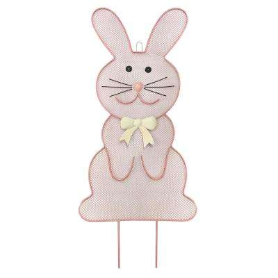 Easter Mesh Bunny Yard Stake (2-Pack)