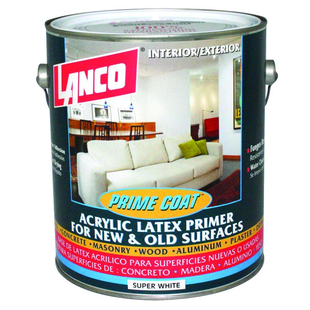 1 gal. Prime Coat Acrylic Latex Interior/Exterior Wall Primer