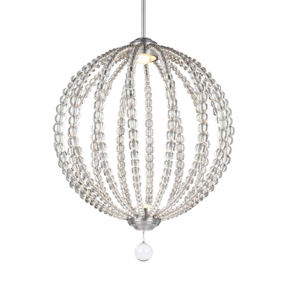 Home Decorators Collection Dovecote 1 Light Nickel Hardwire Pendant 1235905220 The Home Depot
