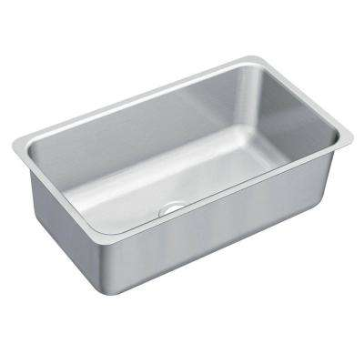1800 Series Undermount Stainless Steel 31.25 in. Single Bowl Kitchen Sink
