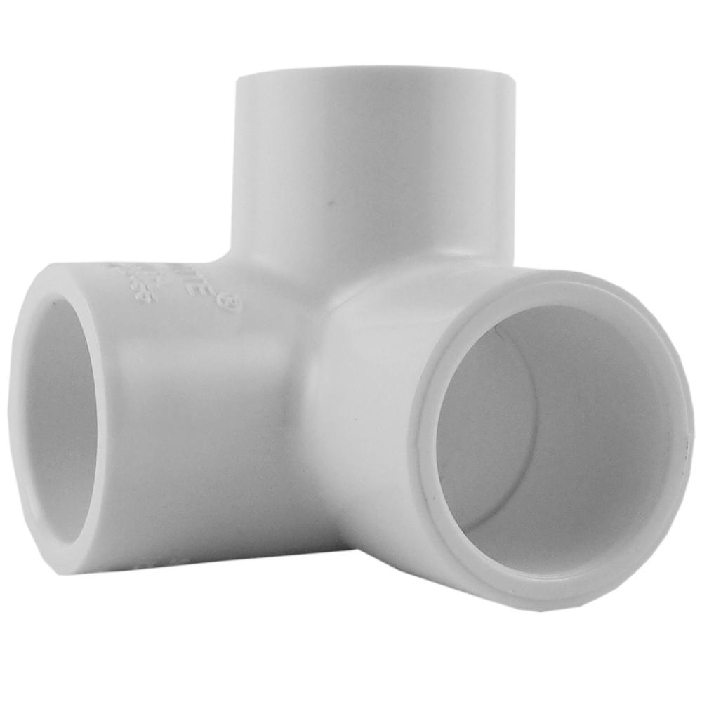 Charlotte Pipe 3/4 in. Side Outlet 90-Degree Socket x Socket x Socket Elbow