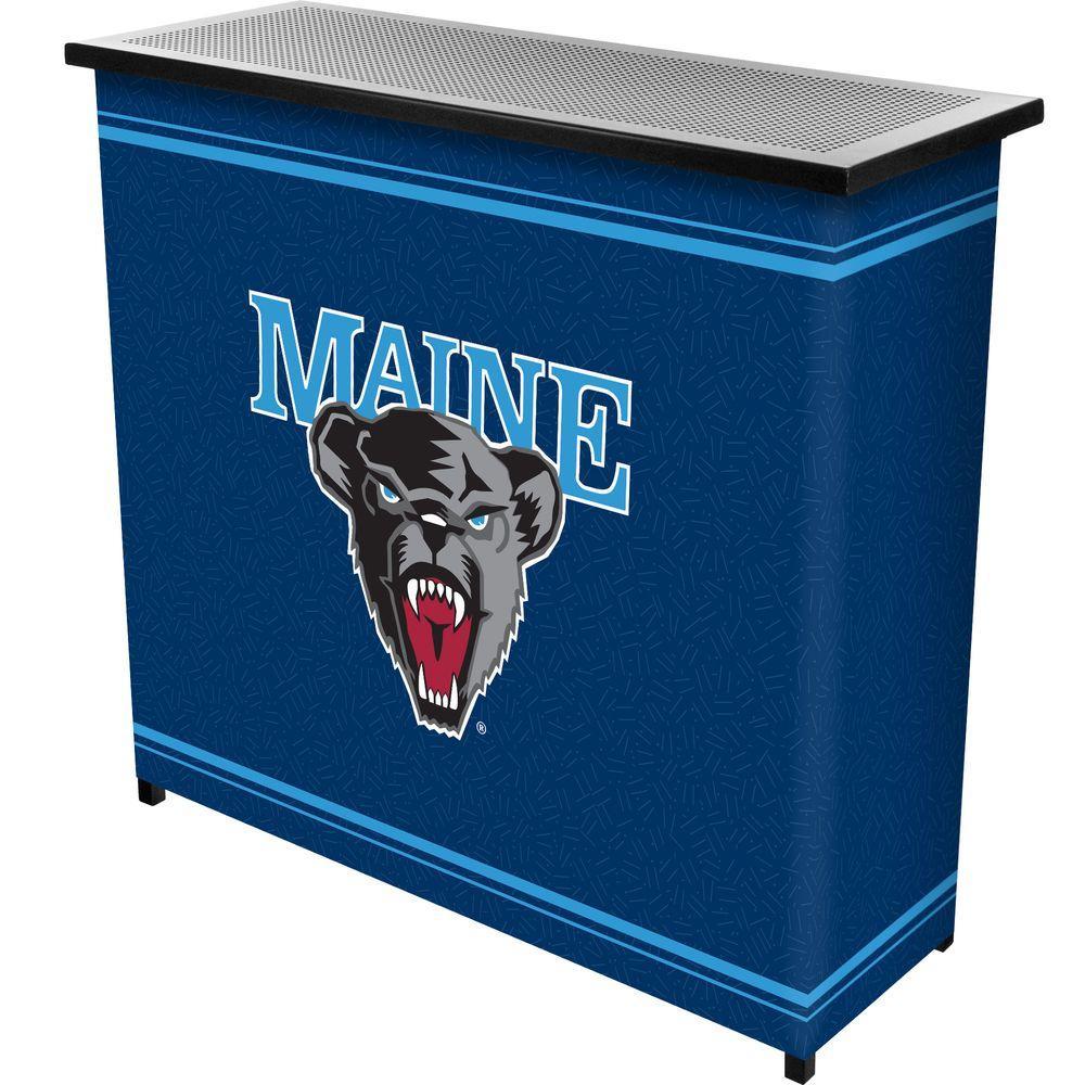 University of Maine 2-Shelf Black Bar with Case
