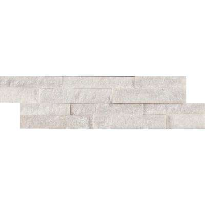 Arctic White Mini Ledger Panel 4.5 in. x 16 in. Natural Marble Wall Tile (5 sq. ft. / case)