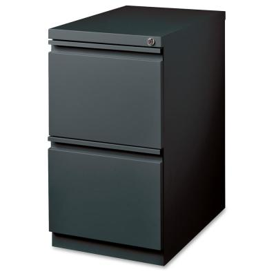 15 in. x 19.9 in. x 27.8 in. 2-Drawer Charcoal FF Mobile Pedestal File