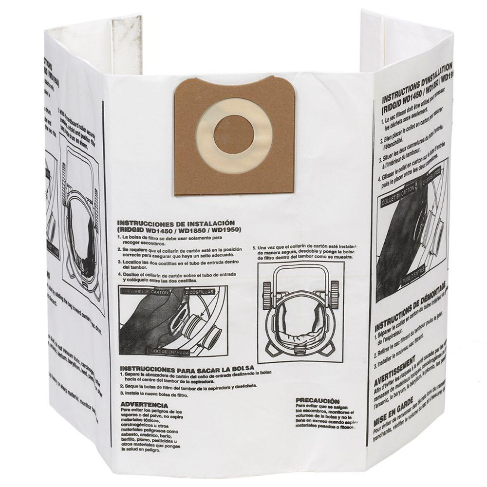 High-Efficiency Dust Bags for 12 Gal. to 16 Gal. Wet Dry