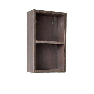 12 in. W Linen Storage Cabinet in Gray Oak