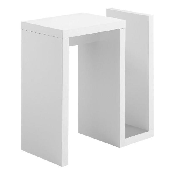 Jasmine 24 in. White Accent Table