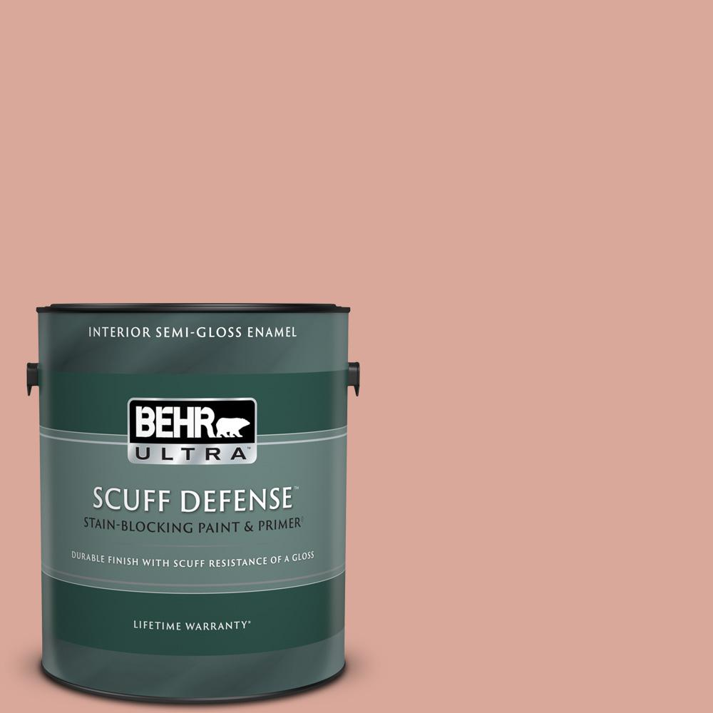 Behr Ultra 1 Gal Pmd 70 Cottage Rose Extra Durable Semi Gloss Enamel Interior Paint And Primer In One 375001 The Home Depot