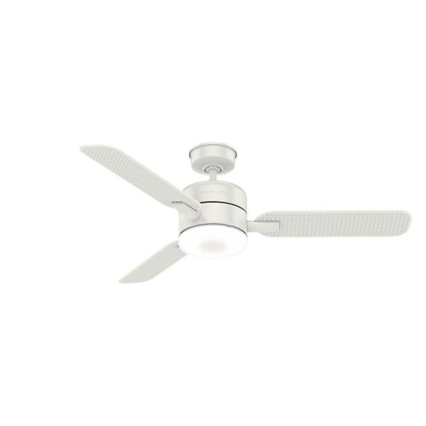 Casablanca's Paume 54-in Fresh White Outdoor Ceiling Fan with LED Lighting