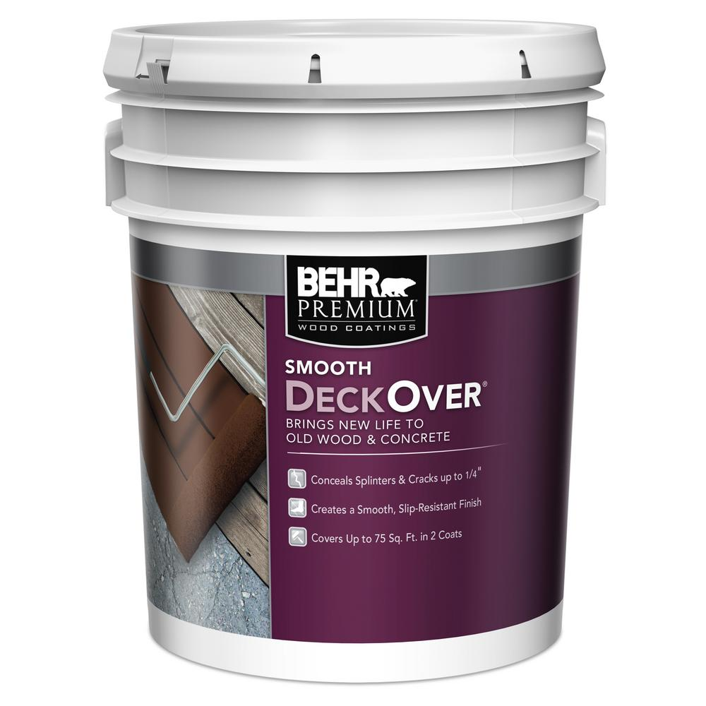 behr premium deckover 5 gal solid color exterior wood and concrete