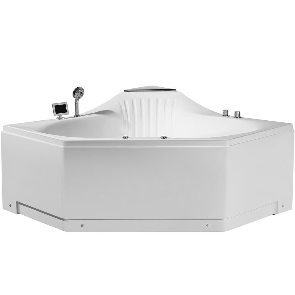 Bathroom Tubs Home Depot: KOHLER Tercet 5 Ft. Center Drain Corner Alcove Bathtub In