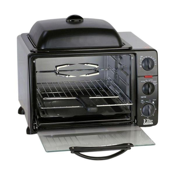 Elite Platinum Black Toaster Oven ERO-2008SC