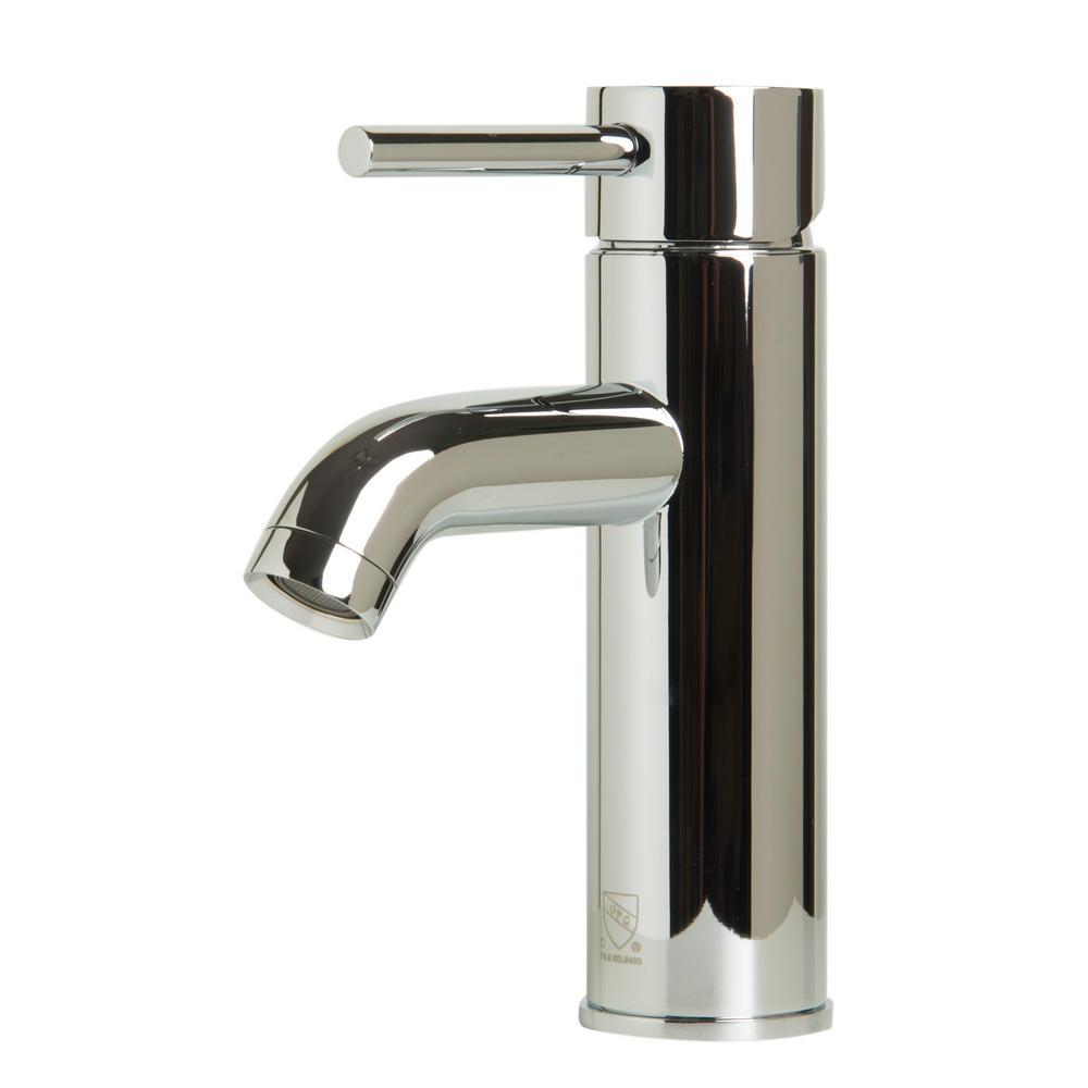 AB1433-PC Single Hole Single-Handle Bathroom Faucet in Polished Chrome