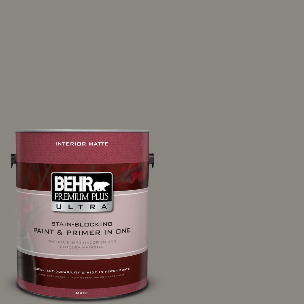 BEHR Premium Plus Ultra Home Decorators Collection 1 gal. #HDC-NT-23 Wet Cement Flat/Matte Interior Paint