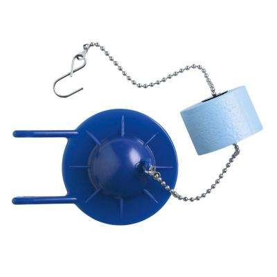 2 in. Blue Toilet Flapper with Float Used in Various Two-Piece Toilets