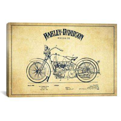 """""""Harley-Davidson Vintage Patent Blueprint"""" by Aged Pixel Canvas Wall Art"""