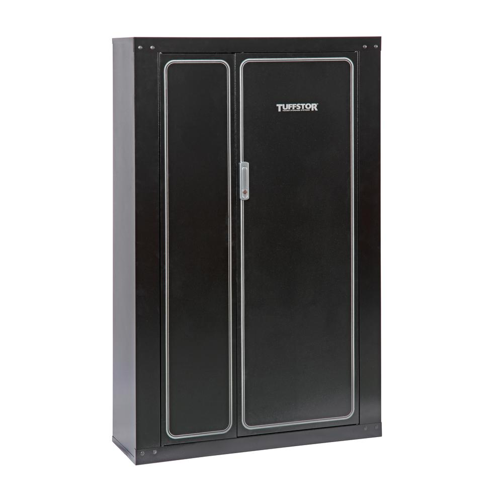 Gun Security Cabinet >> Tuff Stor 16 Gun Metal Security Cabinet With 2 Doors