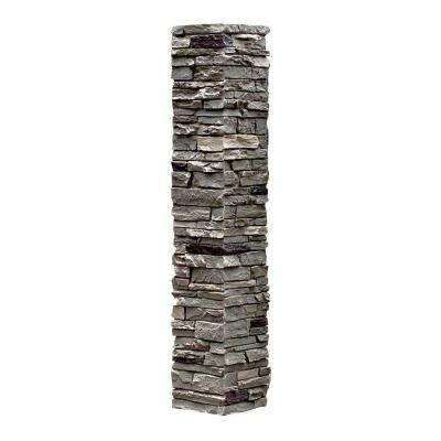 Slatestone 8 in. x 8 in. x 41 in. Pewter Faux Polyurethane Stone Post Cover