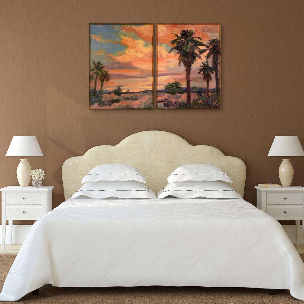 """36 in. x 27 in. """"Desert Oasis 1"""" 2 Piece Digital Print on Fresco Jute Wall Art"""