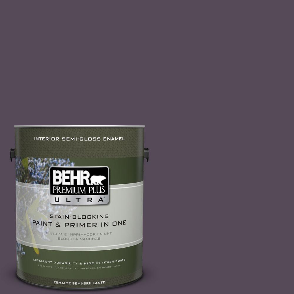 1-gal. #BXC-51 Deep Mulberry Semi-Gloss Enamel Interior Paint