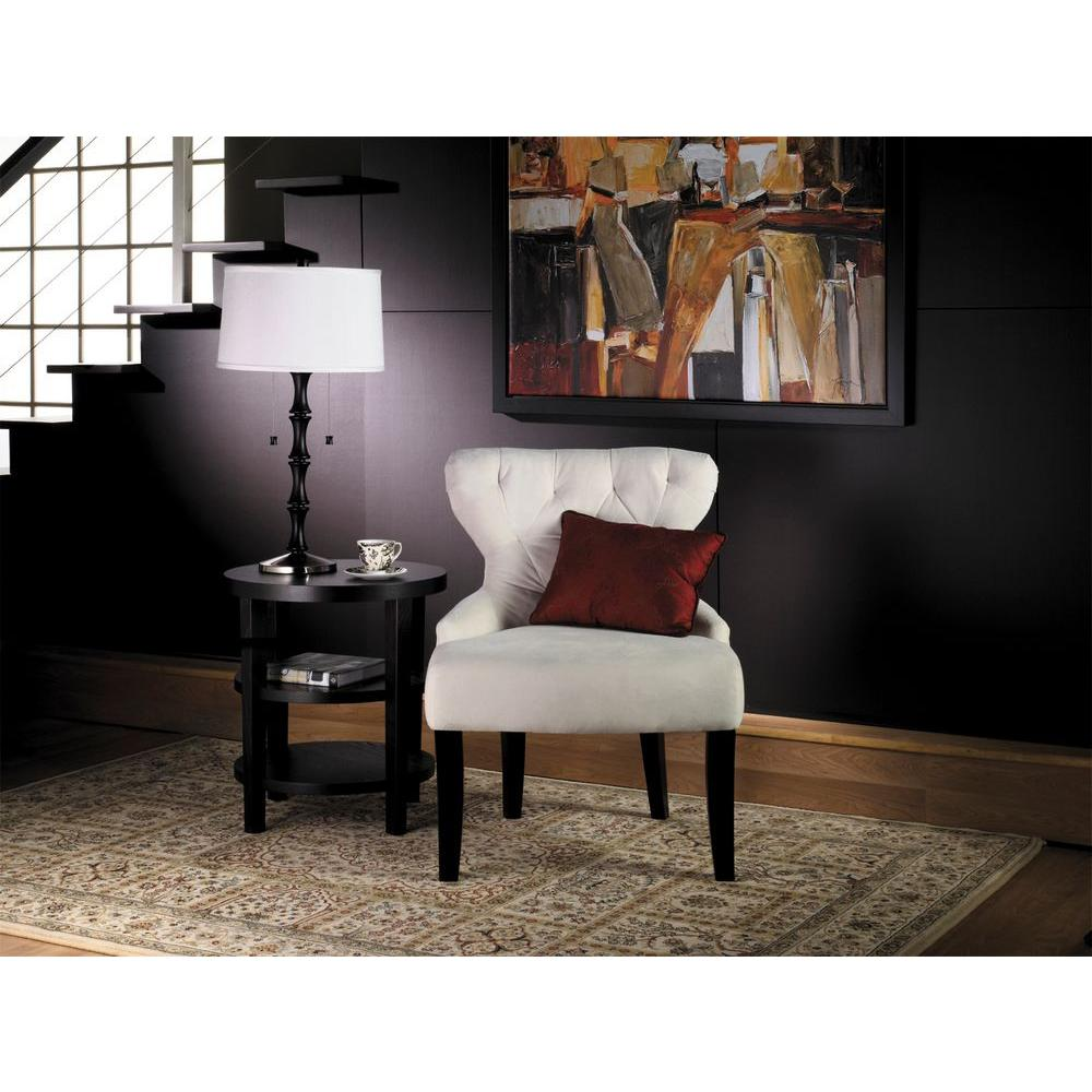 ave six curves oyster velvet accent chair