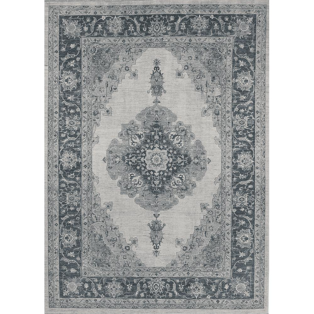 Ruggable Washable Parisa Grey 5 Ft X 7 Stain Resistant Area Rug