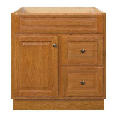 Hampton 30 in. W x 21 in. D x 33.5 in. H Bathroom Vanity Cabinet Only in Oak