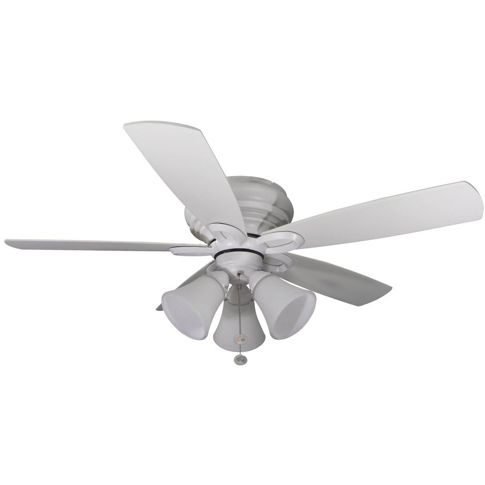 Maris 44 in. LED Indoor Matte White Ceiling Fan with Light