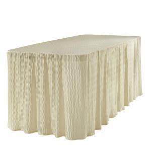 The Folding Table Cloth 6 Ft. Table Cloth Made For Folding Tables  Natural 3072NAT   The Home Depot