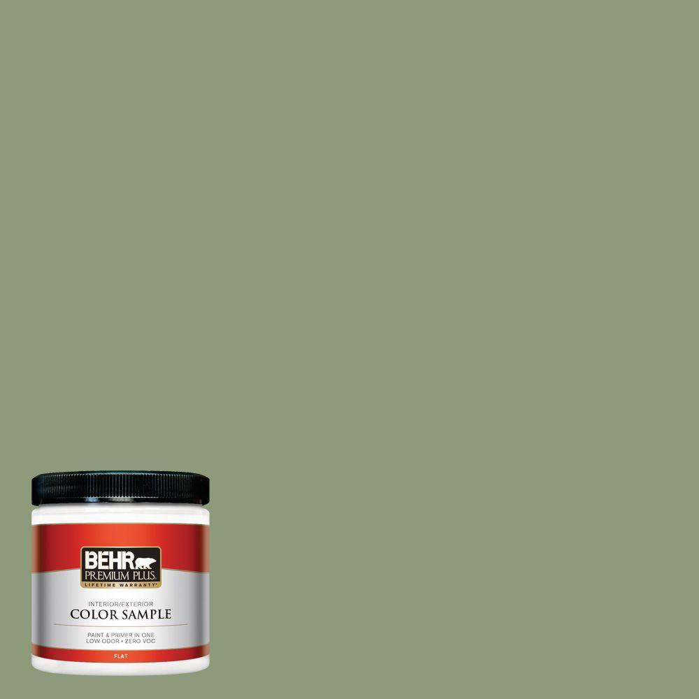 BEHR Premium Plus 8 oz. #ICC-76 Herbal Scent Interior/Exterior Paint Sample