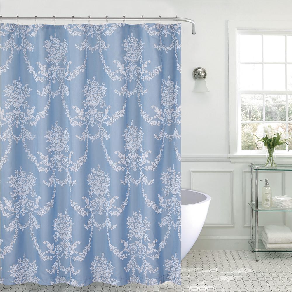 70 in. x 72 in. Blue Jolin Shower Curtain