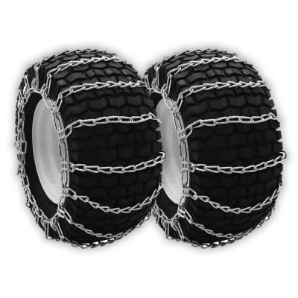 23x10.5x12 & 24x9.5x12 in. Tire Chains, For Cub Cadet MTD Troy Bilt 490-241-0026, 7233033, 7593606, IH407314R2, Set of 2
