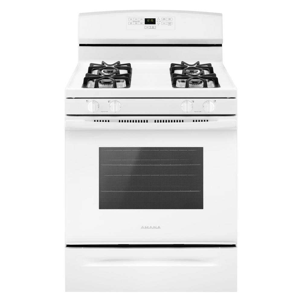 Amana 30 In. 5.0 Cu. Ft. Gas Range In White-AGR6303MFW