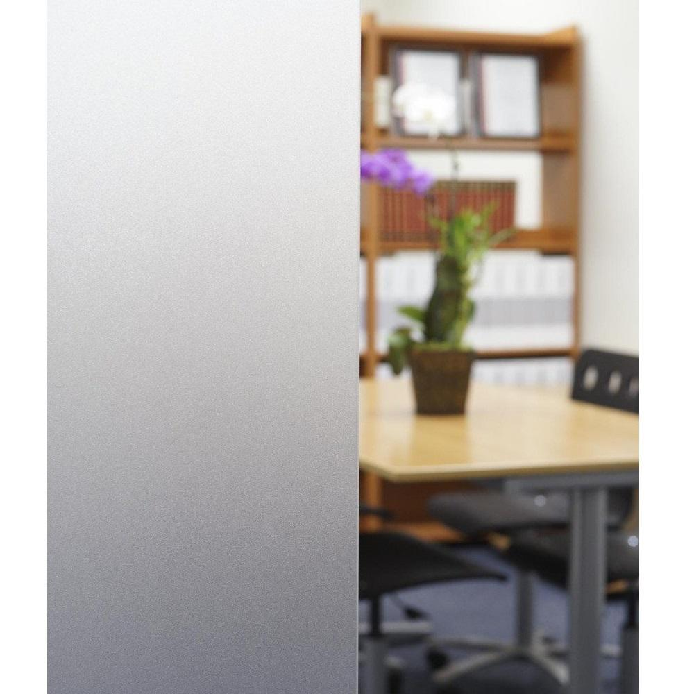 Decorativefilm 36 In X 49 Ft 1pfr Non Adhesive Frosted Privacy Static Cling Window Film