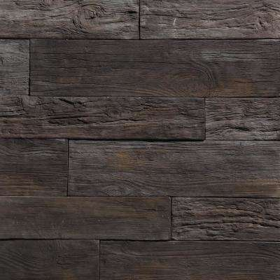 35.50 in. x 8 in. Koni Woodstone Mocha Manufactured Stone Panel 8.40 sq. ft. Flats