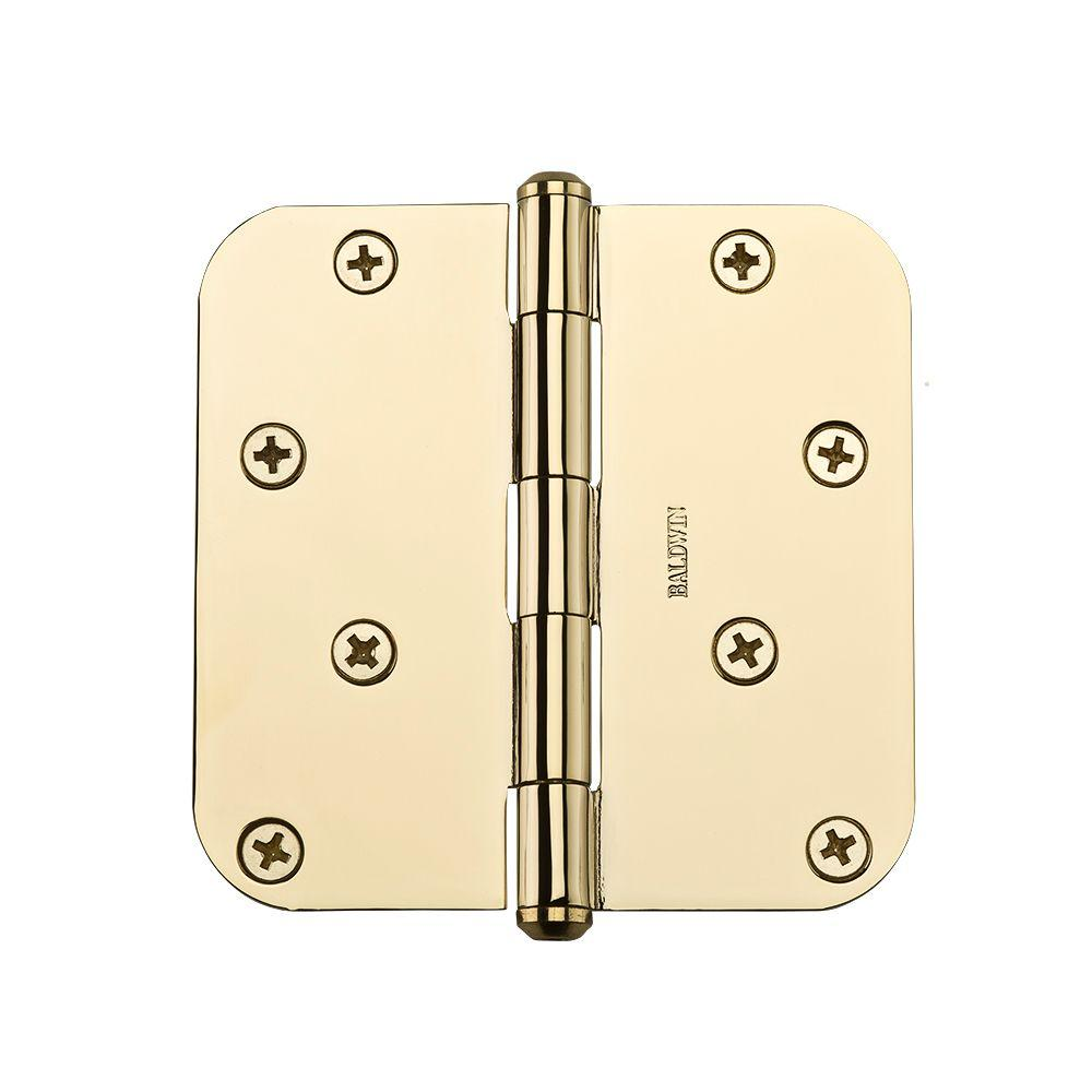 4 in. Polished Brass Radius Hinge