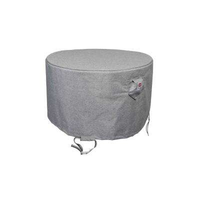 36 in. Platinum Shield Outdoor Round Fire Table Cover