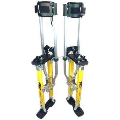 SurPro 18 in. to 30 in. Adjustable Height SP2 Quad Lock Dual Legs Support Magnesium Drywall Stilts