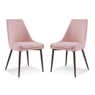 Ethen Dining Chair In Pink Set Of 2