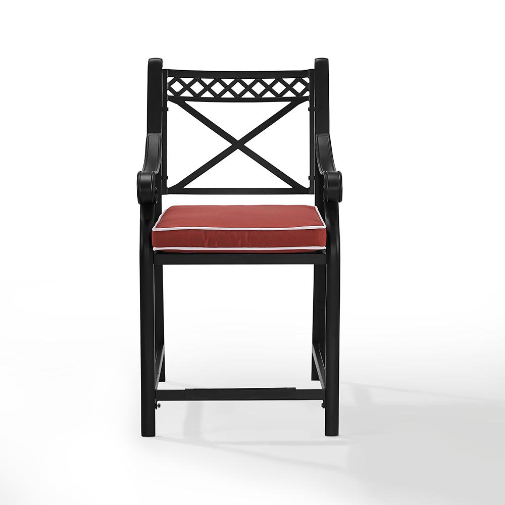 crosley portofino cast aluminum outdoor bar stool with sangria