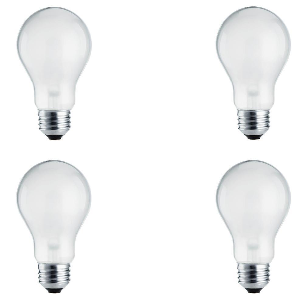 Philips 100-Watt Equivalent A19 Dimmable Energy Efficient Halogen Light Bulb Soft White (2780K) (4-Pack)