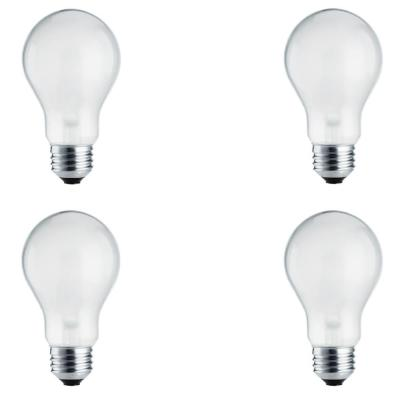 100-Watt Equivalent A19 Dimmable Energy Efficient Halogen Light Bulb Soft White (2780K) (4-Pack)