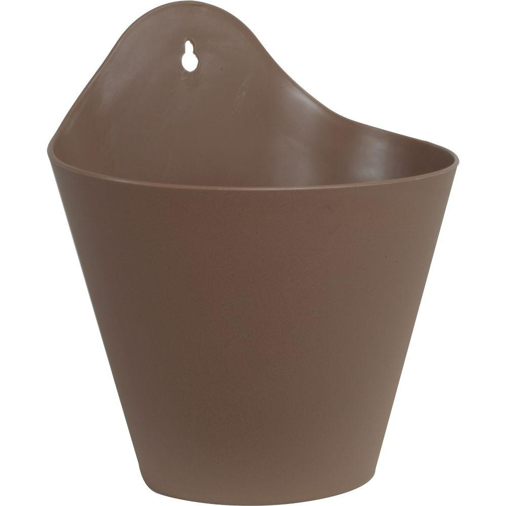 Pride Garden Products Mela 8 1/2 In. Taupe Plastic Wall Planter