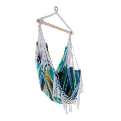 Brazilian 2.5 ft. Cotton Hammock Chair in Cayo Reef
