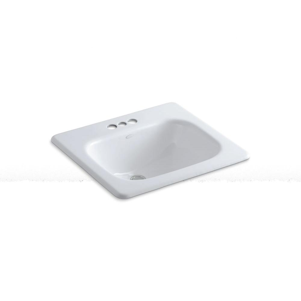 Kohler Tahoe Drop In Cast Iron Bathroom Sink White With Overflow Drain