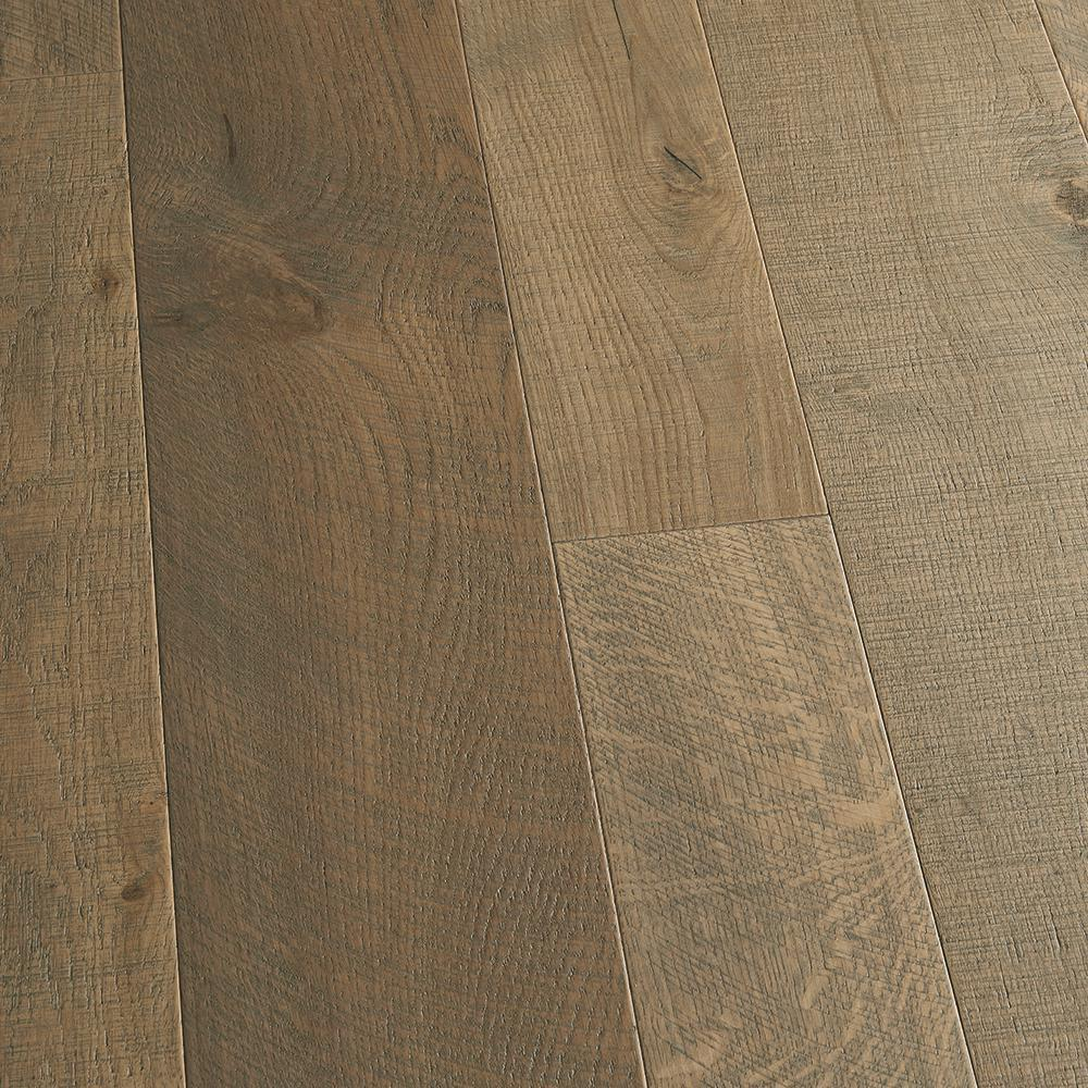 Malibu Wide Plank. Take Home Sample - French Oak Half Moon Engineered Click Lock Hardwood Flooring - 5 in. x 7 in.