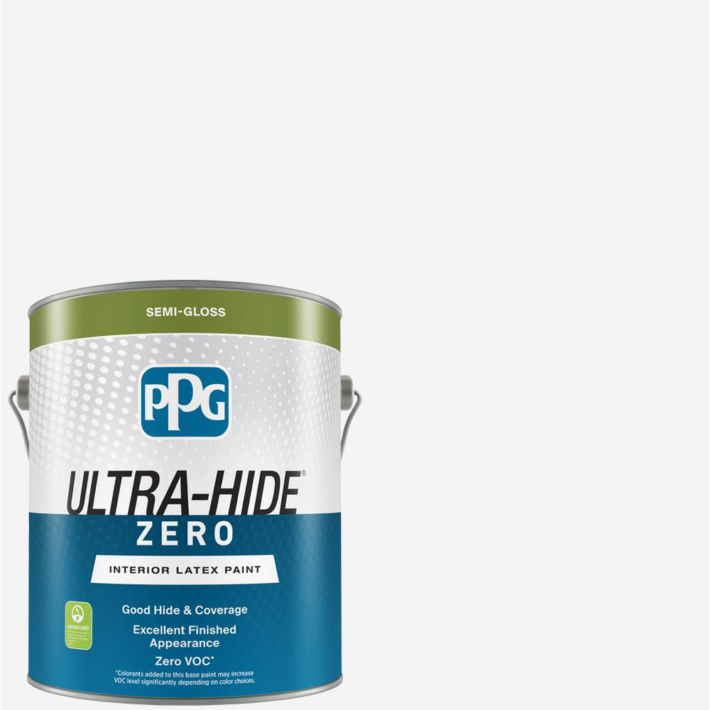 Ppg Ultra Hide Zero 1 Gal Pure White Base Semi Gloss Interior Paint